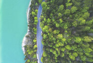 Aerial view of road at Sylvenstein Dam - MMAF00352