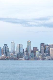 USA, Washington State, Seattle, Skyline in the evening - MMAF00358