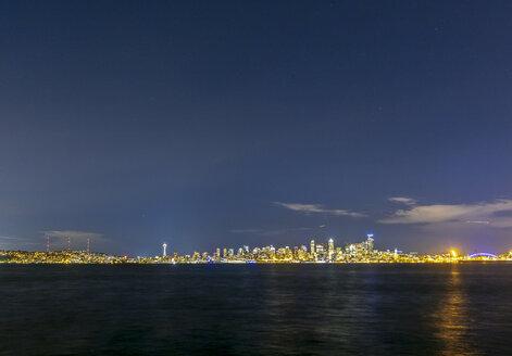 USA, Washington State, Seattle, Skyline at night - MMAF00364