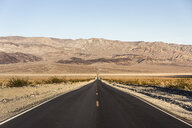 Landscape with straight road in Death Valley National Park, California, USA - CUF11579