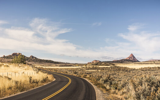 Empty road, Zion National Park, Springdale, Utah, USA - CUF12724