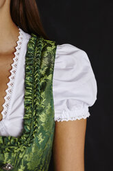 Partial view of young woman in Dirndl - CUF13115