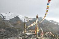 Prayer flags, Zheduo Mountain, Kangding, Sichuan, China - CUF13133