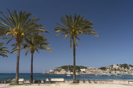 Spain, Balearic Islands, Mallorca, Port de Soller, beach promenade - PCF00365