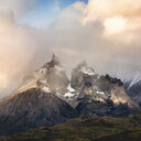Storm clouds above Cuernos del Paine, Torres del Paine National Park, Chile - ISF03465