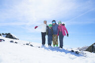 Family on skiing holiday, Hintertux, Tirol, Austria - ISF04113