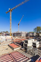 Germany, Stuttgart, view to construction sites of new multi-family houses - WDF04676