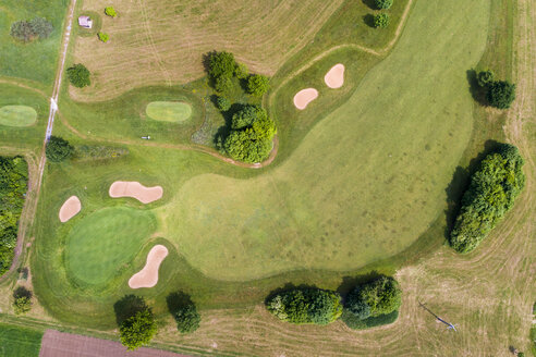 Germany, Baden-Wuerttemberg, Aerial view of golf course - STSF01578
