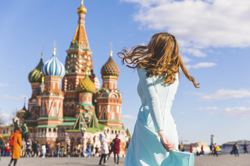 Russia, Moscow, Red Square, teenage girl rotating - WPEF00338
