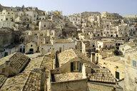 Rooftop cityscape, Matera, Basilicata, Italy - ISF05180