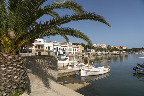 Spain, Baleares, Mallorca, Portocolom, fishing harbour - PCF00374