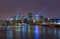 Canada, Quebec, Montreal, Skyline at night - LOMF00723