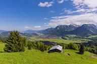 Germany, Bavaria, Oberallgaeu, Oberstdorf, mountain hut - WGF01193
