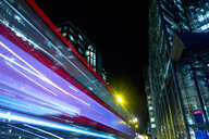 Blurred motion of bus, London, UK - CUF19075