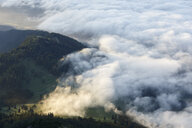 Austria, Tyrol, Innsbruck county, Gnadenwald, Hundskopf, View to Inn Valley at sunrise - CVF00633
