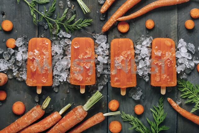 Carrot ice popsicles - RTBF01290