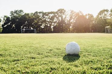Soccer ball on soccer field - MJF02327
