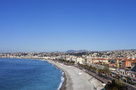 France, Provence-Alpes-Cote d'Azur, Nice, City view and beach on French Riviera - ABOF00365