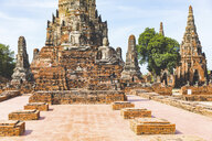 Thailand, Ayutthaya, ruins Wat Chaiwatthanaram Temple in the historical city of Ayutthaya - WPEF00389