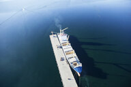 Argentinia, Tierra del Fuego, Ushuaia, harbour, container ship - CVF00658