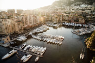 View of marina with yachts and boats, Monte Carlo, Monaco - CUF21997