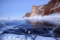 Cape Sagan Khushun and Three Brothers Rock, Baikal Lake, Olkhon Island, Siberia, Russia - CUF22087