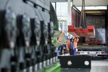 Industry, workers and indoor crane - CVF00666