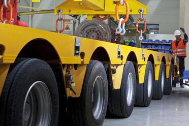 Industry, worker and indoor crane - CVF00669