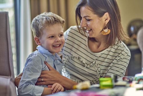 Happy mother with son at home - BEF00142