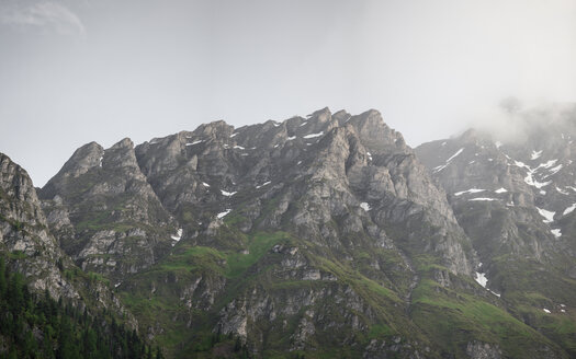 Switzerland, Grisons, Samnaun, mountains and fog - MMAF00366