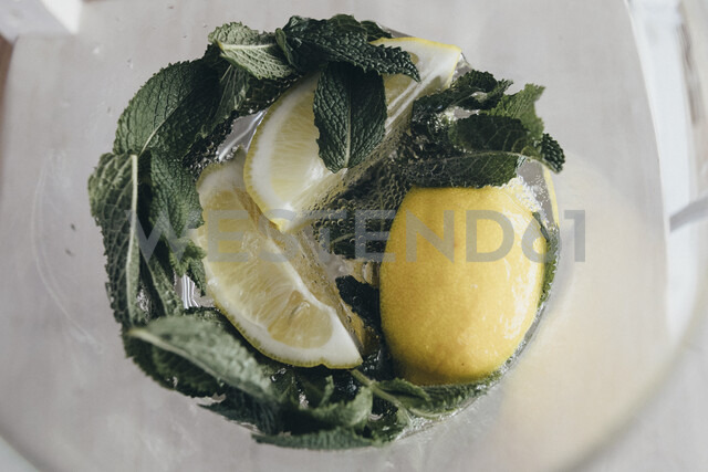 Water infused with lemon and mint - KMKF00287 - Katharina Mikhrin/Westend61