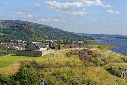 United Kingdom, Scotland, West Dunbartonshire, Dumbarton, Dumbarton Castle, Firth of Clyde at river mouth Leven - LB01944