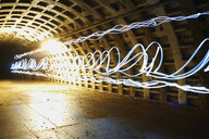Light trails in tunnel - CUF25152