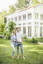 Portrait of couple in garden - CUF25167