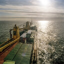 View from the bridge of container ship - CUF25745