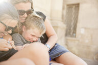 Family hugging and tickling, Lecce, Italy - CUF27779