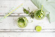 Organic cucumber water with mint and lime - LVF07064