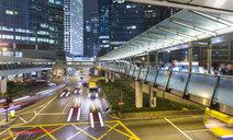 Traffic and elevated walkways, Hong Kong, China - CUF28270