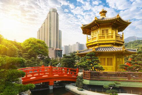 Pagoda and pavilion, Nan Lian Garden, Diamond Hill, Hong Kong, China - CUF28276