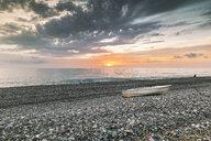 Europe, Georgia, Adjara, Batumi, Black Sea at sunset - FPF00170