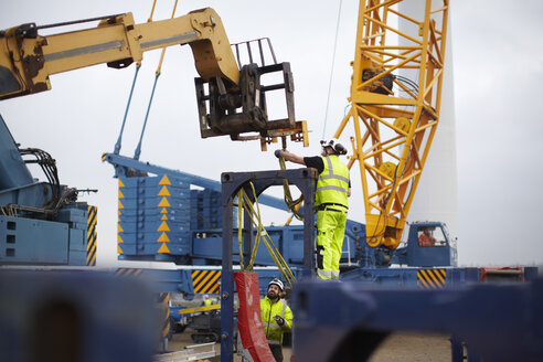 Engineers working at wind farm - CUF28497