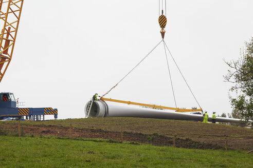 Wind turbine being erected - CUF28500