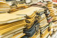 Stacks of paper files - CUF28581