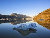 Ice on lake at sunset, Heinabergsjokull Glacier, Iceland - CUF28856