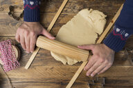Kneading cookie dough - SKCF00493
