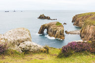 United Kingdom, Cornwall, Enys Dodman Arch at Land's end - WPEF00420