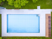 Empty swimming pool, top view - MMAF00389