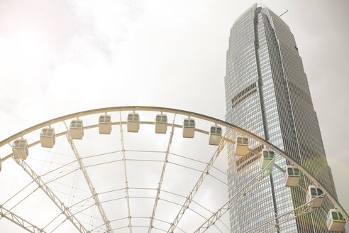 Observation wheel and central skyline, Hong Kong, China - CUF30461