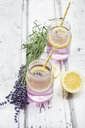 Homemade lavender lemonade with lemon - LVF07089