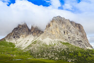 Low cloud and rock formation, Dolomites, Italy - CUF31356